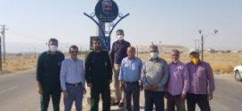 رو نمایی از تابلو بلوار شهید سلیمانی و ابومهدی المهندس در فداغ